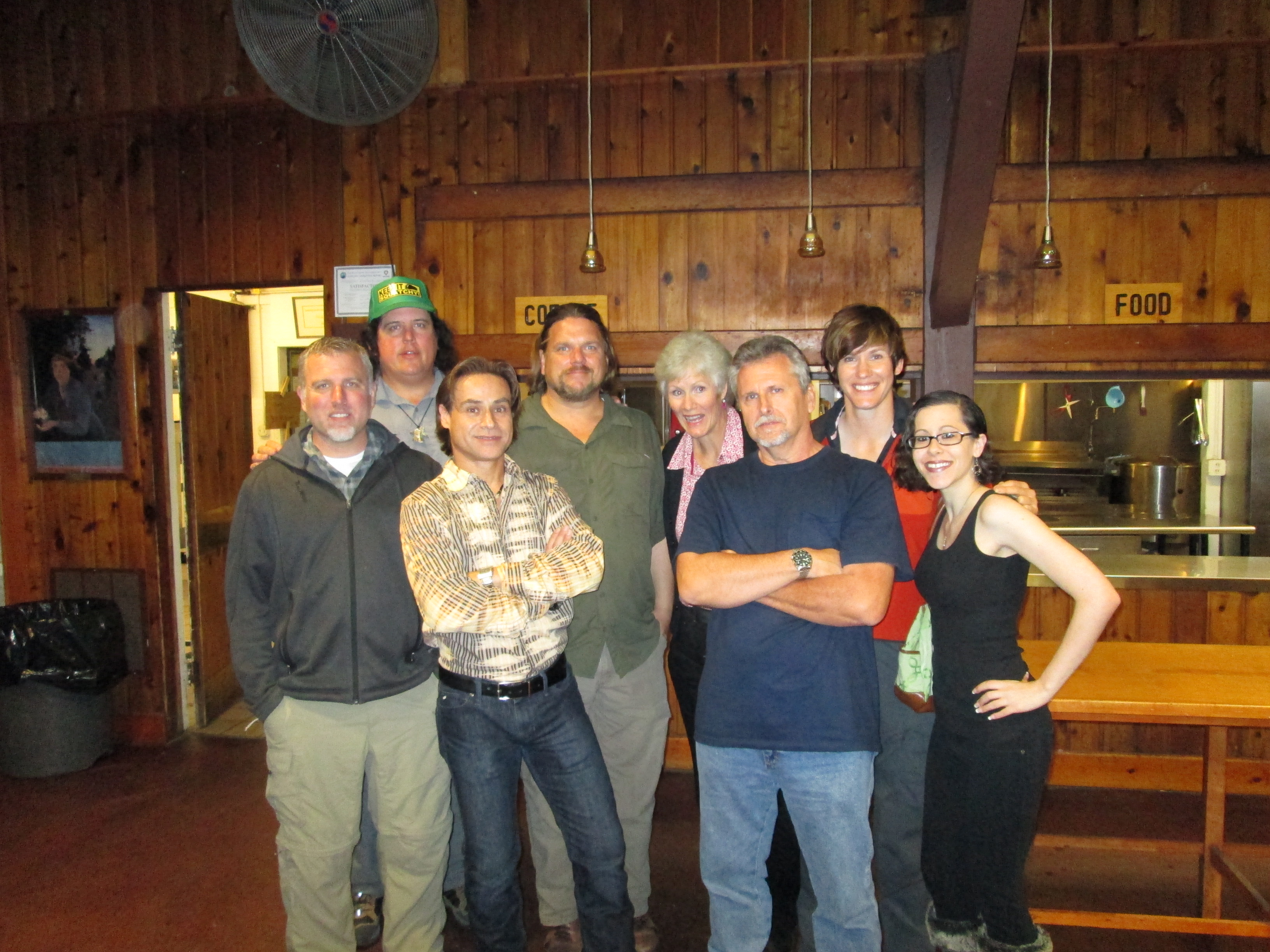 Team NASBRO with the cast of FINDING BIGFOOT.